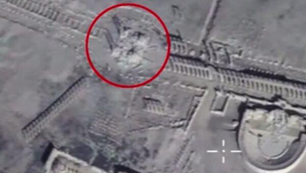 Zniszczona przez terrrorystów Palmira, zdjęcie MO Rosji - Sputnik Polska