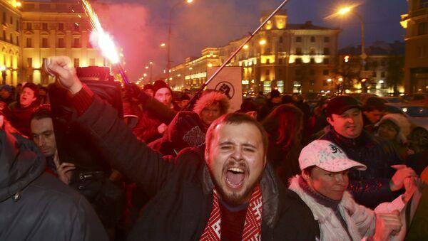 Marsz Rozsierdzonych Białorusinów - Sputnik Polska