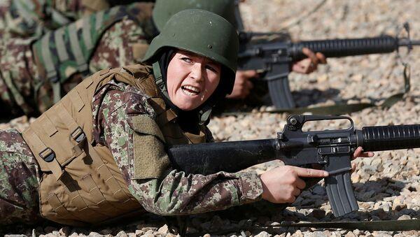 Kobiecy oddział armii w Afganistanie, Kabul - Sputnik Polska