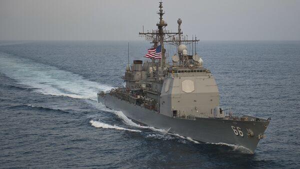Krążownik rakietowy Marynarki Wojennej USA USS Hue City - Sputnik Polska