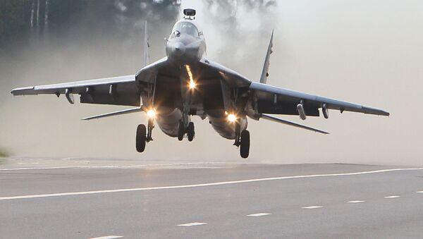 Samolot MiG-29 białoruskich sił powietrznych - Sputnik Polska