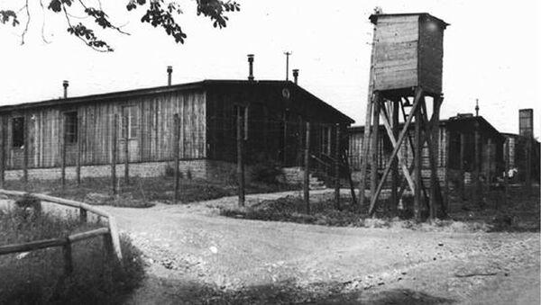 Teren obozu koncentracyjnego w Ohrdruf, czerwiec 1945, foto archiwalne. - Sputnik Polska