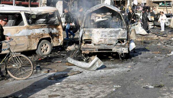 Zamach terrorystyczny w syryjskim Homs - Sputnik Polska