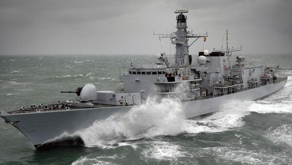 Fregata typu 26 Kent królewskiej brytyjskiej marynarki wojennej - Sputnik Polska