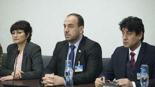 Delegacja syryjskiej opozycji na rozmowach w Genewie, 24 lutego 2017 - Sputnik Polska
