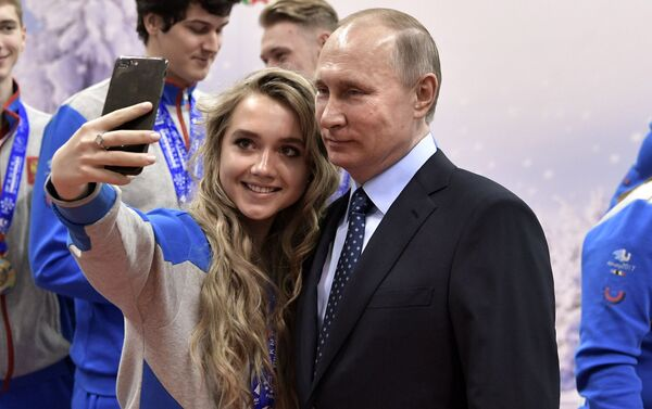 Selfie z prezydentem Putinem - Sputnik Polska