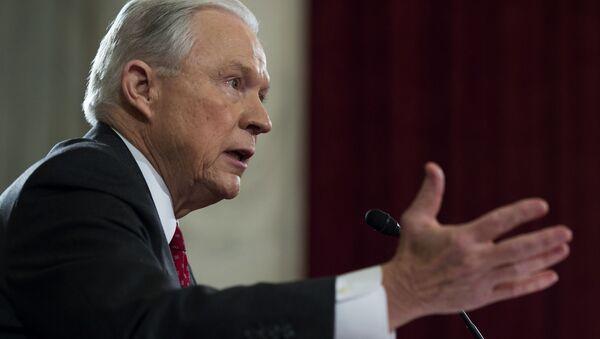 Sekretarz sprawiedliwości i prokurator generalny USA Jeff Sessions - Sputnik Polska