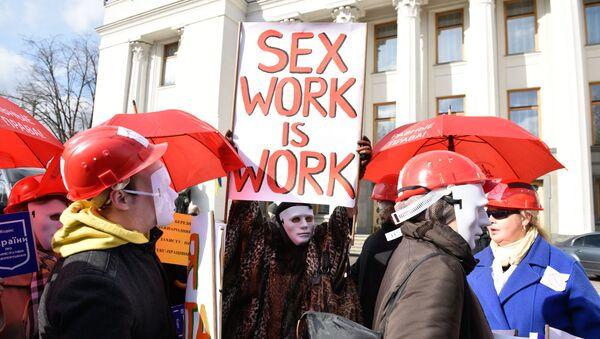 Wiec na rzecz legalizacji prostytucji na Ukrainie - Sputnik Polska