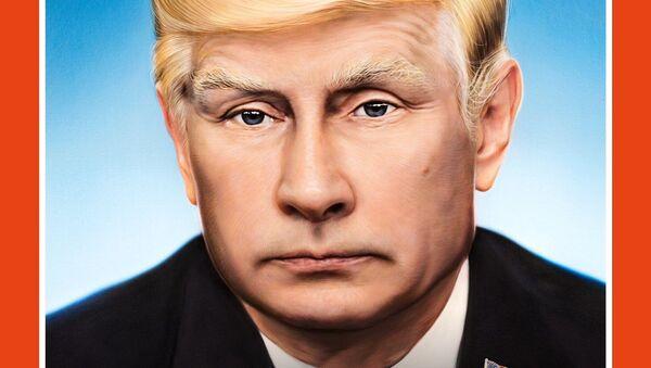 Gazeta Der Spiegel. Na okładce Władimir Putin z fryzurą à la Donald Trump - Sputnik Polska