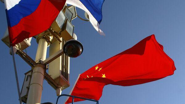 Flagi Chin i Rosji - Sputnik Polska