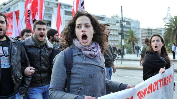 Demostracja w Atenach - Sputnik Polska