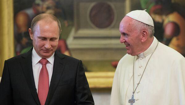 Władimir Putin i papież Franciszek - Sputnik Polska