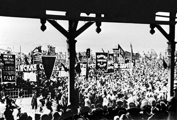 Demonstracja we Władywostoku. 1917 rok. - Sputnik Polska
