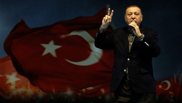 Prezydent Turcji Recep Tayyip Erdogan - Sputnik Polska