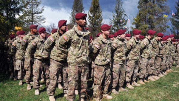 Amerykańscy instruktorzy wojskowi na Ukrainie. Zdjęcie archiwalne - Sputnik Polska