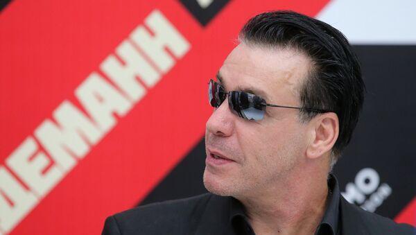 Wokalista zespołu Rammstein Till Lindemann w Moskwie. - Sputnik Polska