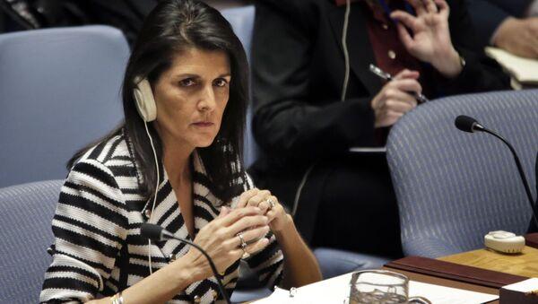 Stała przedstawicielka USA przy ONZ Nikki Haley - Sputnik Polska
