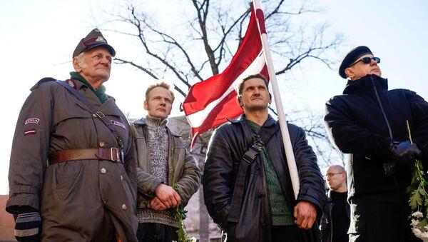 Każdego roku w Rydze 16 marca odbywa się marszu łotewskich weteranów oddziałów Waffen SS - Sputnik Polska