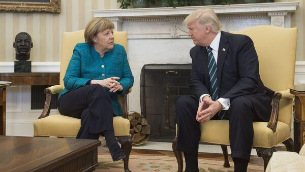 Spotkanie Donalda Trumpa z Angelą Merkel w Nowym Jorku - Sputnik Polska