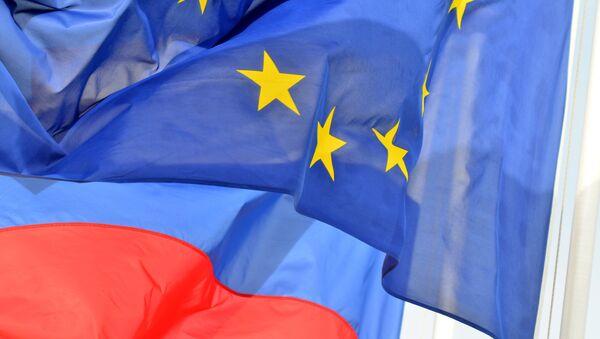 Flagi UE i Rosji - Sputnik Polska
