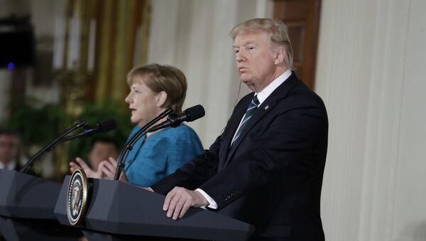 Spotkanie Donalda Trumpa z Angelą Merkel - Sputnik Polska