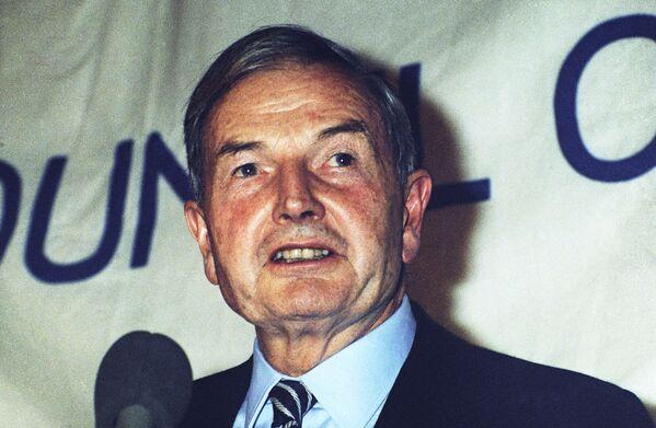 Po demobilizacji Rockefeller rozpoczął pracę w nowojorskim banku Chase National na stanowisku asystenta szefa wydziału zagranicznego. - Sputnik Polska