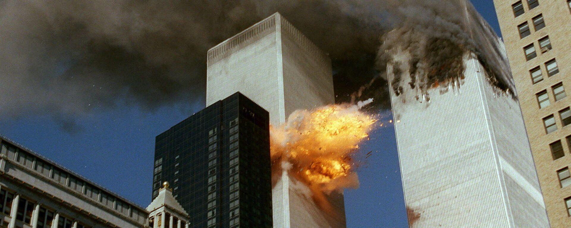 Zniszczenia w rezultacie ataku terrorystycznego z 11 września w Nowym Jorku - Sputnik Polska, 1920, 11.09.2021