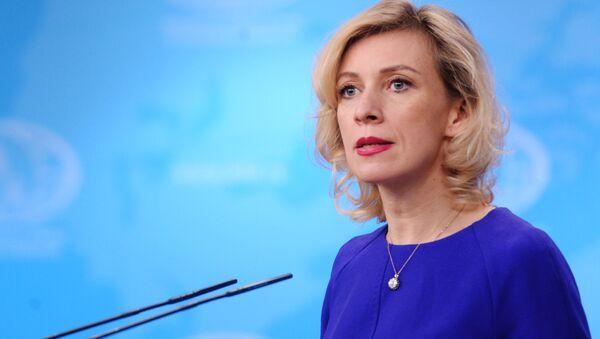 Официальный представитель министерства иностранных дел России Мария Захарова на брифинге в Москве - Sputnik Polska