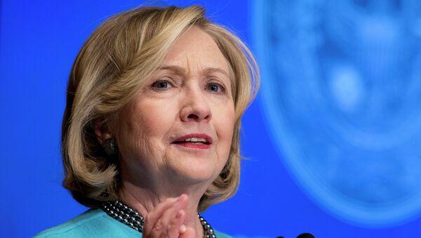 Kandydatka na prezydenta Stanów Zjednoczonych Hillary Clinton - Sputnik Polska