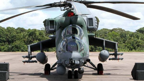 Pierwsza dostawa śmigłowców Mi-35M dostarczonych do Brazylii - Sputnik Polska
