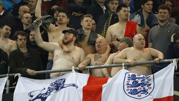 Brytyjscy kibicie na meczu Anglia-Niemcy w Dortmundzie - Sputnik Polska