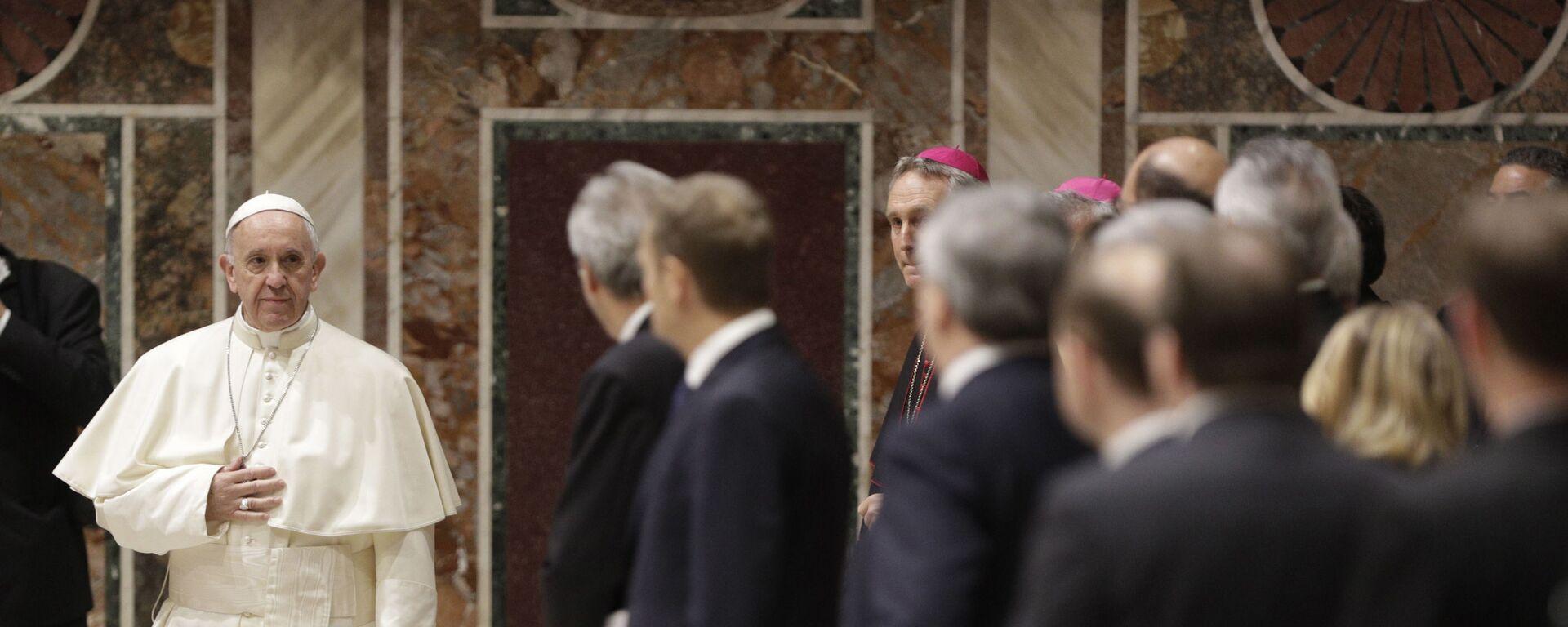 Papież Franciszek spotkał się w piątek z przywódcami Unii Europejskiej i szefami instytucji unijnych - Sputnik Polska, 1920, 04.07.2021
