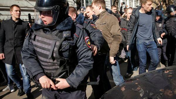 Akcja protestu w Moskwie - Sputnik Polska