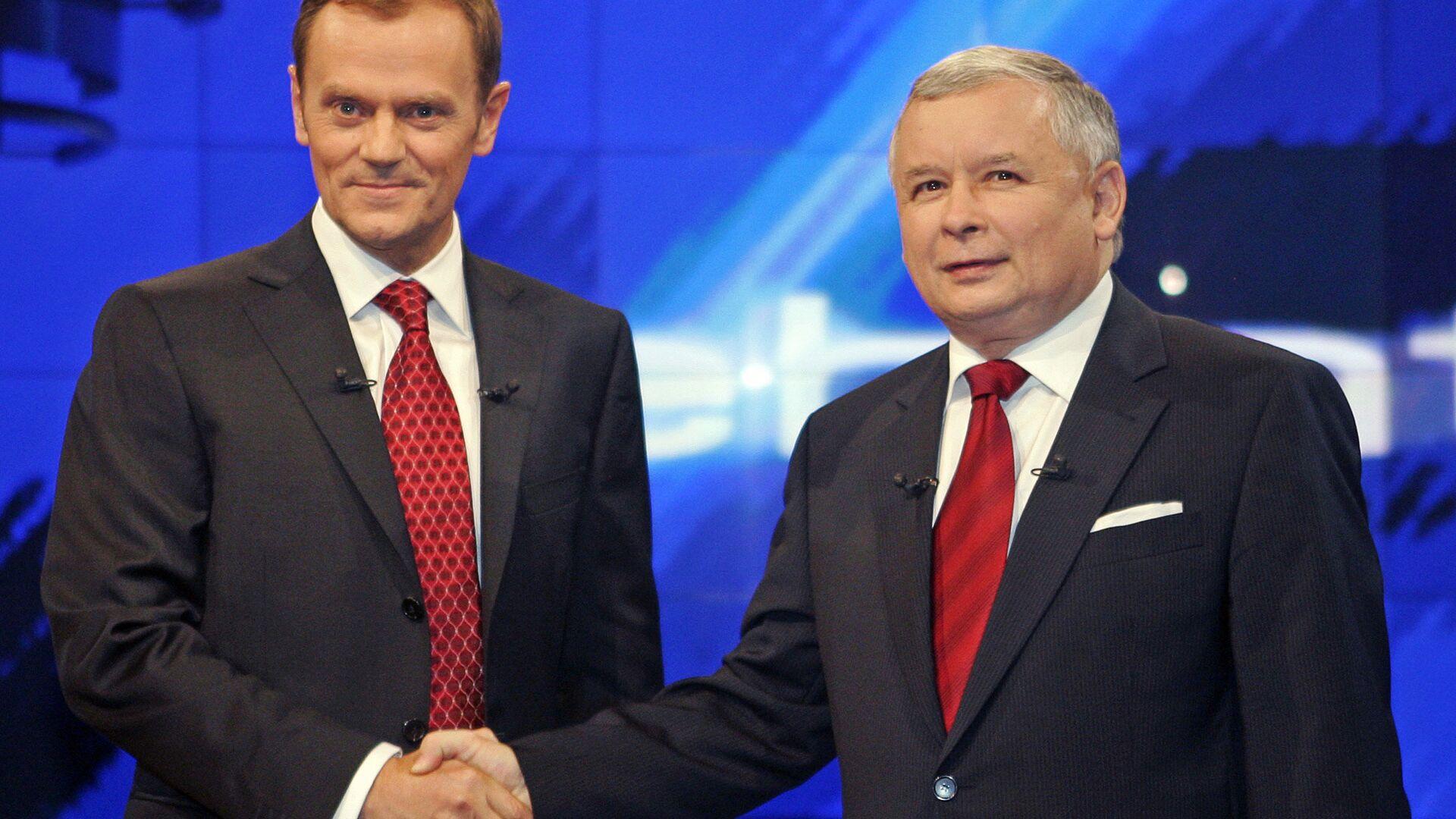 Donald Tusk i Jarosław Kaczyński - Sputnik Polska, 1920, 17.07.2021