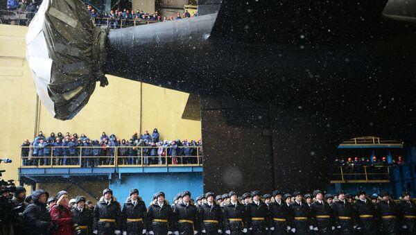 """Zwodowanie atomowego okrętu podwodnego """"Kazań"""" Marynarki Wojennej Rosji - Sputnik Polska"""