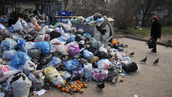 Śmieci na podwórkach Lwowa - Sputnik Polska