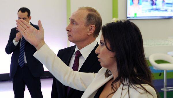 Wizyta prezydenta Rosji Władimira Putina w siedzibie telewizji RT - Sputnik Polska