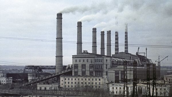 Elektrownia cieplna Pridnieprowska. Zdjęcie archiwalne - Sputnik Polska