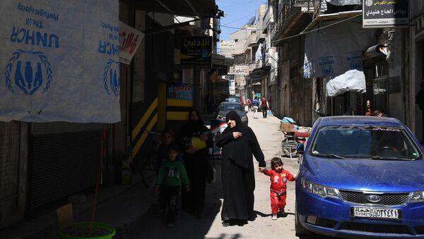 Jedna z ulic syryjskiego miasta Hama - Sputnik Polska