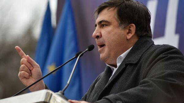 Lider Ruchu Nowych Sił, były szef obwodu odeskiego Michaił Saakaszwili - Sputnik Polska
