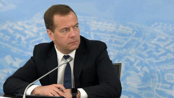 Przewodniczący rosyjskiego rządu Dmitrij Miedwiediew - Sputnik Polska