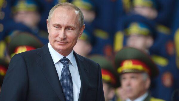 Prezydent Rosji Władimir Putin na ceremonii inauguracji międzynarodowego forum Armia 2015 - Sputnik Polska