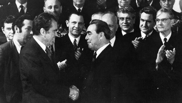 Leonid Breżniew i Richard Nixon - Sputnik Polska