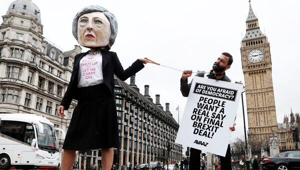 Akcja protestu przeciwko Brexit w Londynie - Sputnik Polska