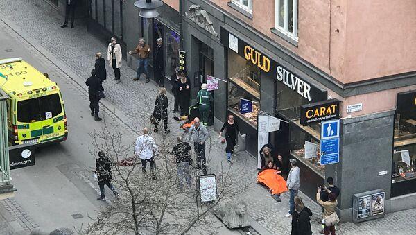 Zamach terrorystyczny w Sztokholmie - Sputnik Polska