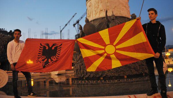 Wiec opozycji w stolicy Macedonii - Sputnik Polska