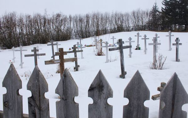 Cmentarz w Kachemak Selo, Alaska - Sputnik Polska