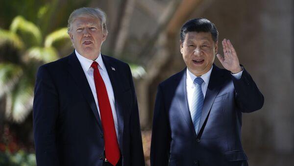 Prezydent USA Donald Trump i przewodniczący ChRL Xi Jinping - Sputnik Polska