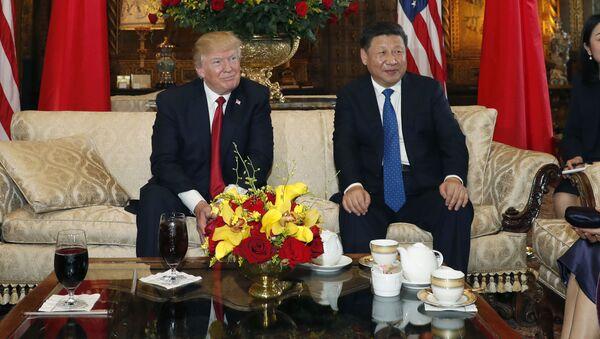 Prezydent USA Donald Trump i przewodniczący ChRL Xi Jinping w towarzystwie żon na spotkania w Mar-a-Lago - Sputnik Polska