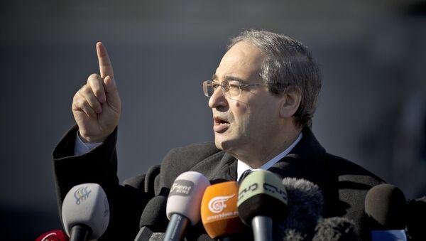 Minister spraw zagranicznych Syrii Faisal Mekdad - Sputnik Polska